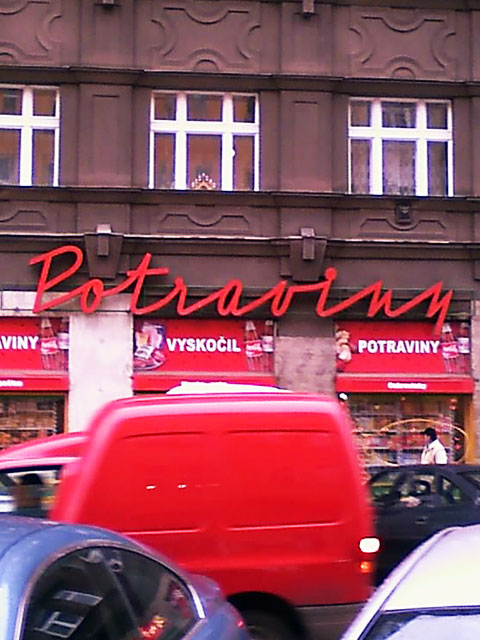 Grocery shop in Prague
